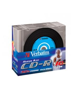VERBATIM CD-R 52X, 700MB, SINGLE PACK SLIM, EXTRA PROTECTION