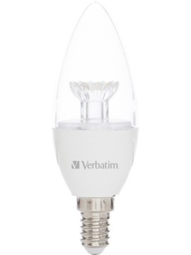 VERBATIM LED CANDLE E14 3.1W-25W ND 2700K 250LM CLEAR