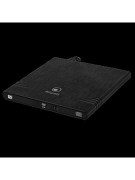 ATLANTIS MASTERIZZATORE ESTERNO ULTRASLIM USB 2.0 DVD-RW DUAL LAYER 8X NERO