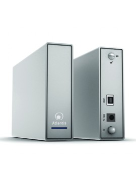 ATLANTIS BOX ESTERNO SATA 3,5 USB 2.0 ALLUMINIO SATINATO ARGENTO