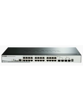 D-LINK 28-PORT 10/100/1000MBPS GIGABIT STACKABLE SMARTPRO POE SWITCH INCLUDING 2 SFP PORTS AND 2 X 10G SFP+ PORTS