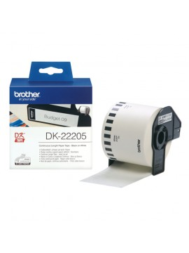 BROTHER DK-22205 NASTRO BIANCO CARTA TERMICA A LUNGHEZZA CONTINUA- 62MM -30