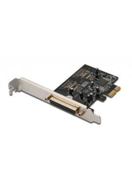 DIGITUS SCHEDA PCI-E 1 PORTA PARALLELA 25 POLI STAFFA NORMALE E LOW PROFILE