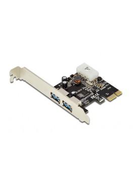 DIGITUS SCHEDA PCI-E 2 PORTE USB3.0 STAFFA LOW PROFILE