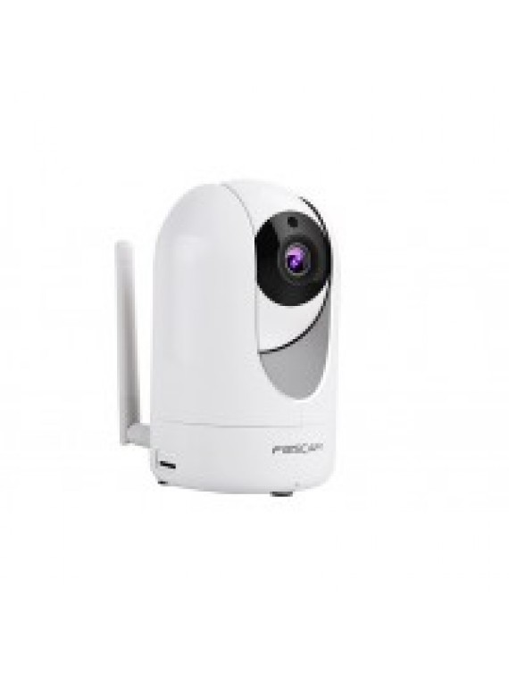 FOSCAM IP CAMERA WIRELESS 1080P 2MPX PTZ 115 WDR NIGHT VISION MICRO SD 2 WAT AUDIO WHITE