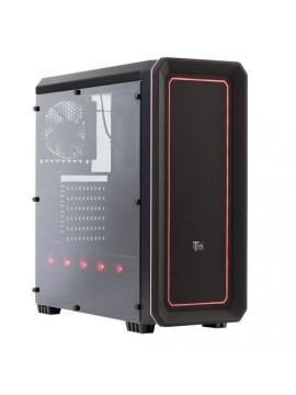 CASE RAINBOW 06 - GAMING MIDDLE TOWER, RGB LED, USB3, 12CM FAN, FAN CONTROL, TRASP WIND XL