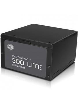 COOLER MASTER MASTERWATT LITE 500W, 230V, 80PLUS WHITE, 120MM FAN, ACTIVE PFC, EU CABLE