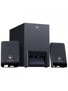 ATLANTIS SPEAKER SOUNDMASTER 2100 KIT 2.1 CASSE + SUBWOOFER IN LEGNO CON REGOLATORE VOLUME ALTI E BASSI