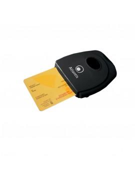 ATLANTIS CARD READER/WRITER PER SMARTCARD COME CARTA DEI SERVIZI/FIRME DIGITALI/HOME BANKING/HOME SHOPPING COLORE NERO