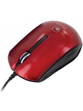 ATLANTIS MOUSE OTTICO USB MINI 3 TASTI + SCROLL 800-1000 DPI ROSSO