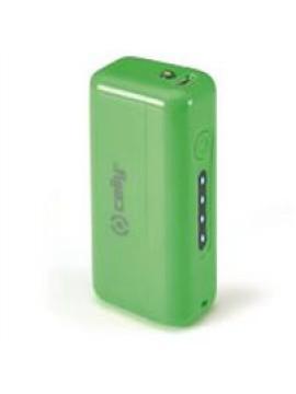 CELLY POWER BANK CON CAPACITA DI 2200MAH, 1X USB DA 1A, CAVO MICRO USB, VERDE