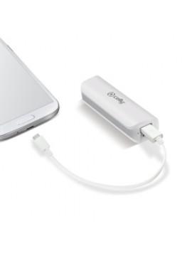 CELLY POWER BANK CON CAPACITA DI 2600MAH, 1X USB DA 1A, CAVO MICRO USB, BIANCO