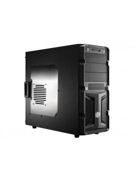 COOLER MASTER CASE K-350 - TOWER BLACK, USB3.0, INSIDE BLACK, TRASPARENT WINDOW
