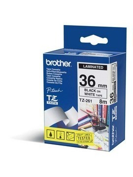 BROTHER NASTRO LAMINATO DA 36MM (8M) NERO/BIANCO