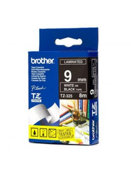 BROTHER NASTRO LAMINATO DA 9 MM (8 M) BIANCO/NERO